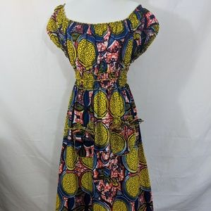 Dresses & Skirts - Mixed print, dyed cloth, west african print maxi